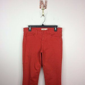 Tory Burch Emmy Ankle Jeans Skinny 29 Jasper Red